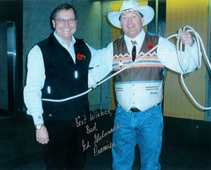 Bud Edgar with Premier Ed Stelmach